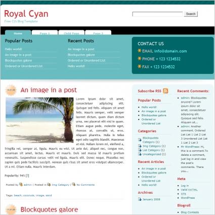 Royal Cyan Template