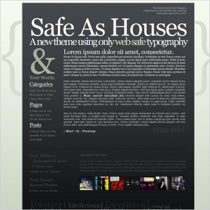 Safe As Houses Template