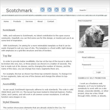 Scotch mark Template