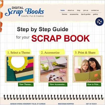 Scrap Books Template