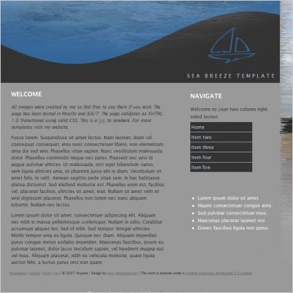 Sea Breeze Template