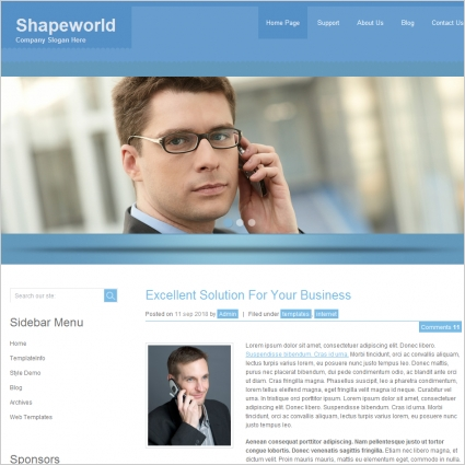 Shape world Template