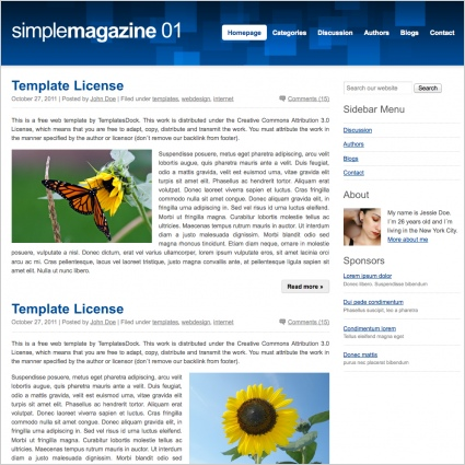 SimpleMagazine 01 Template