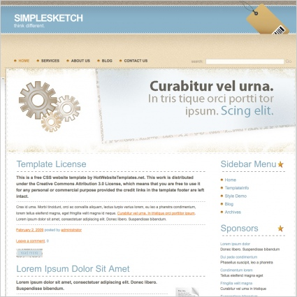 SimpleSketch Template