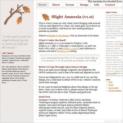 Slight Amnesia v1.0 Template