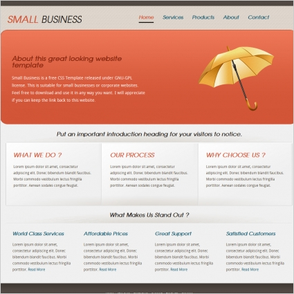 Small business template free website templates in css html js small business template friedricerecipe Gallery