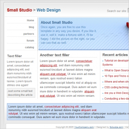 Small Studio Template