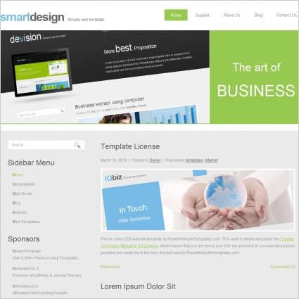Smart design template free website templates in css html js format smart design template flashek