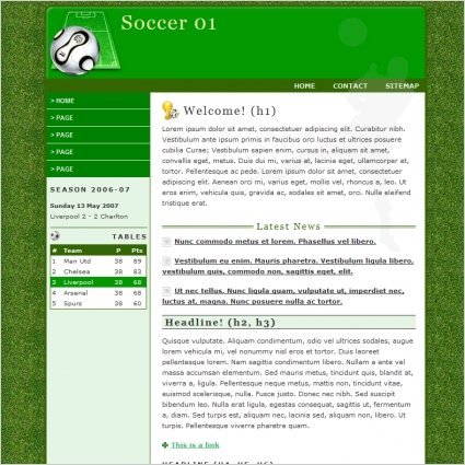 Soccer 01 Template Free website templates in css, html, js format ...