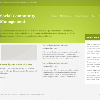 Social Community Management Template