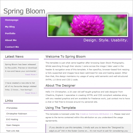 Spring Bloom Template