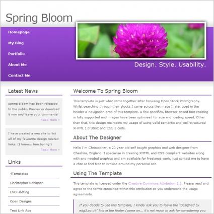 Spring Bloom Template