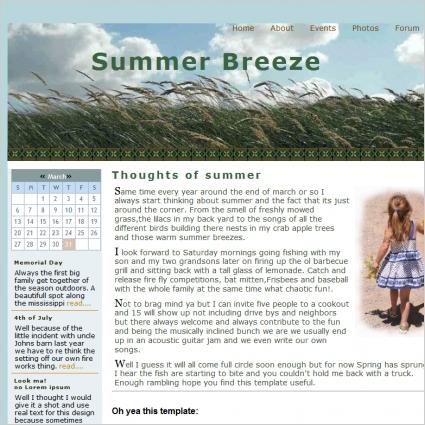 Summer Breeze Template