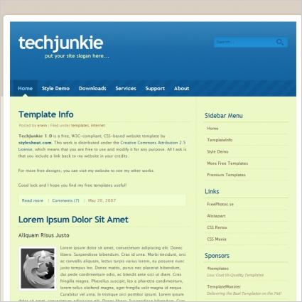 Tech Junkie 1.0 Template
