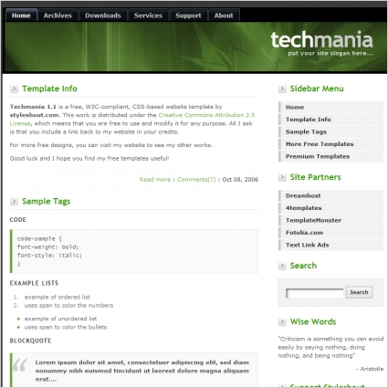 Techmania 1.1 Template