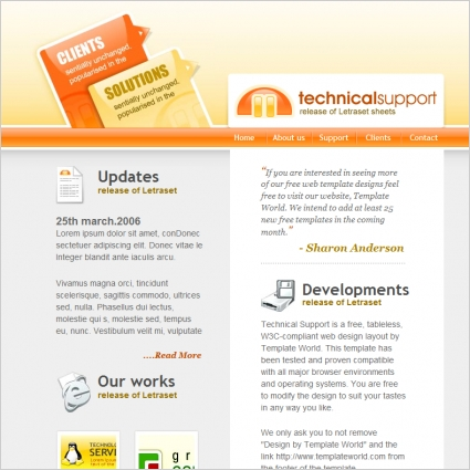 Technical support Template