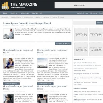 The MMOZine Template