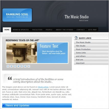 The Music Studio Template
