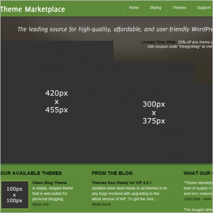 Theme Marketplace Template