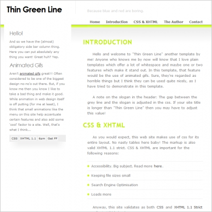 Thin Green Line Template