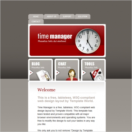 Time Manager Template