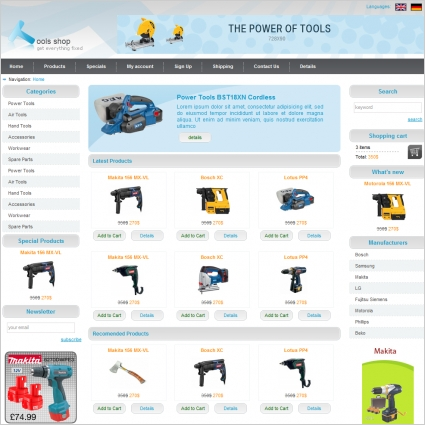 Computer parts website template page 5 custom website design store.