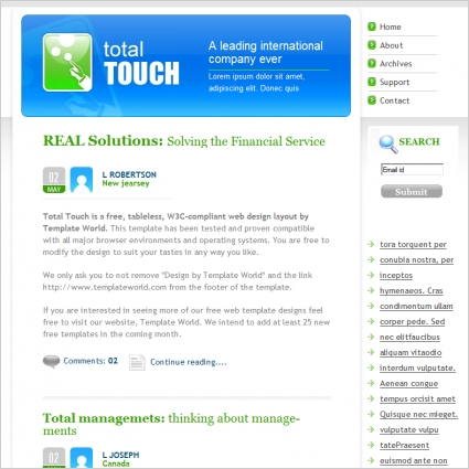 Total Touch Template
