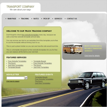 Transport Company Template