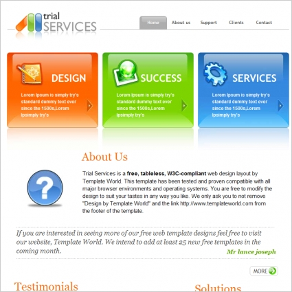 trial services template free website templates in css html js