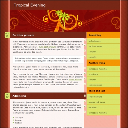 Tropical Evening Template