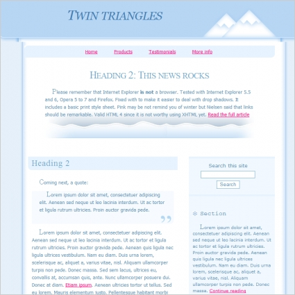 Twin Triangles Template