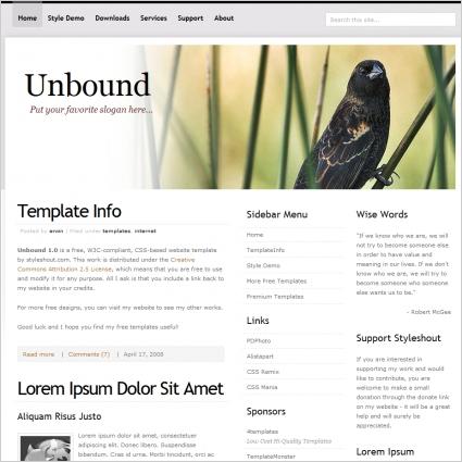 Unbound 1.0 Template