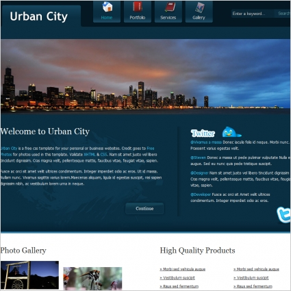 urban city Free website templates in css, html, js format