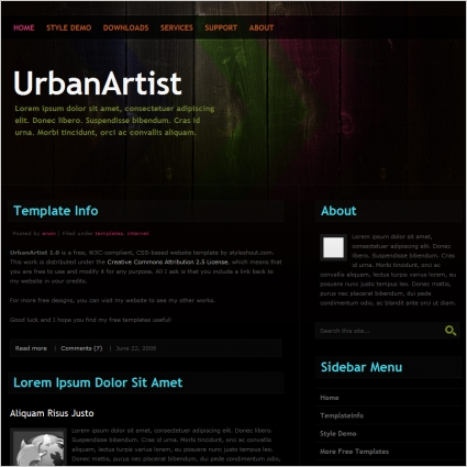 UrbanArtist 1.0 Template