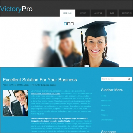 Victory Pro Template Free website templates in css, html, js format ...