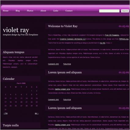 violet rays