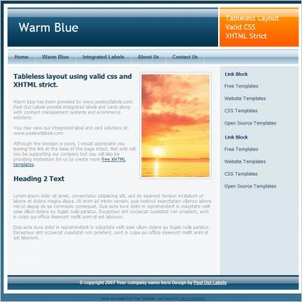 Warm Blue Template