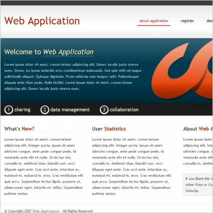 web application template free website templates in css html js