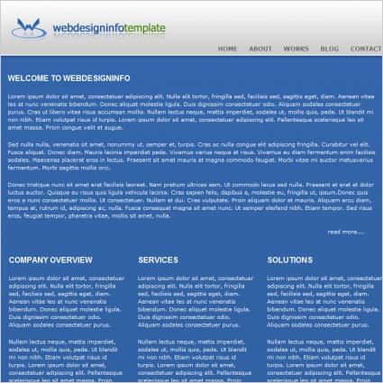 Web design info Template