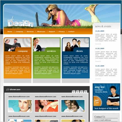 Web design template free website templates in css html js format web design template fbccfo Image collections