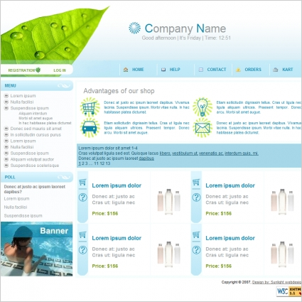 Web Shop Template