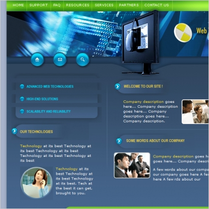 Web Technologies Template Free Website Templates In Css Html Js Format For Free Download 101 56kb