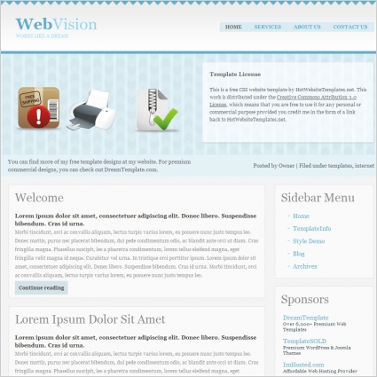 Web Vision Template