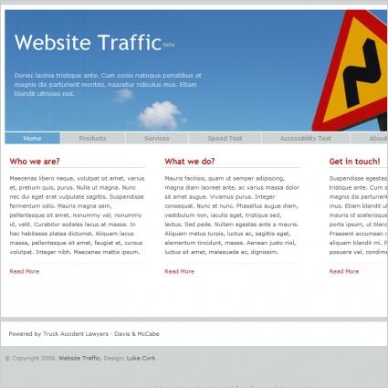 Website Traffic Template