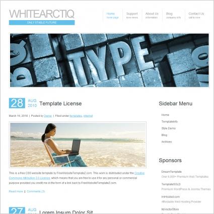White Arctiq Template