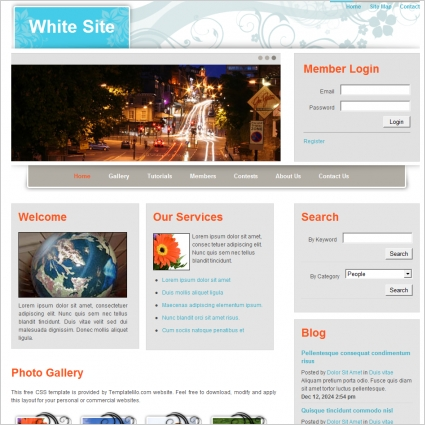 White Site Template