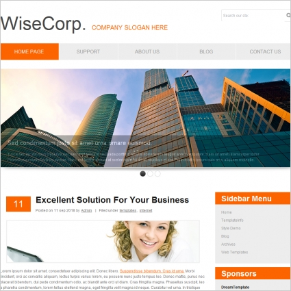Wise Corp Template