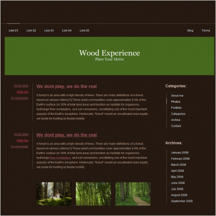 Wood Experience Template