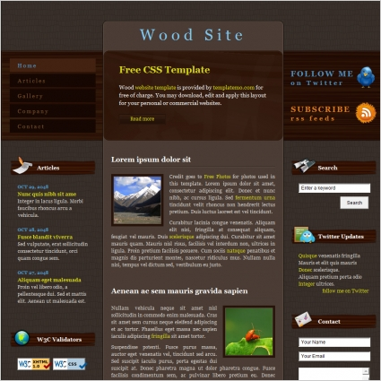 wood site