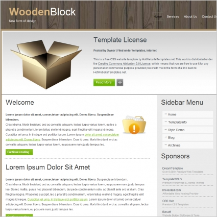 Wooden Block Template